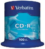 CD-R, 700MB, 52X, 100 buc/bulk, VERBATIM Extra Protection