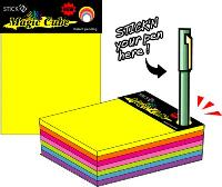 Notes autoadeziv cub, 102 x 76mm, 280 file/set, 7 culori neon, HOPAX Magic
