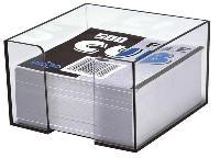 Cub din hartie alb cu suport, 9 x 9 x 9cm, 650 file/set