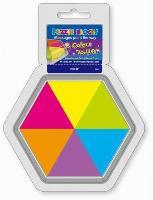 Notes autoadeziv, 43 x 50mm, 150 file/set, 6 culori neon, HOPAX Puzzle