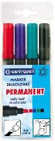 Marker permanent, 1-4.6mm, 4 culori/set, CENTROPEN 8576