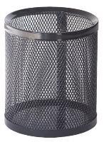 Suport de birou, cilindric, negru, MAS 500